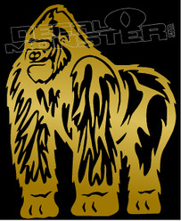 Humble Gorilla Silhouette Decal Sticker