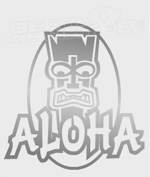 Tiki Guy Aloha Decal Sticker