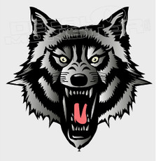 Lashing Tribal Wolf Decal Sticker