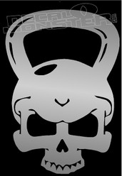 Kettlebell Skull Decal Sticker