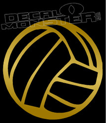 Volleyball Silhouette Decal Sticker