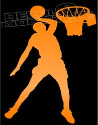Slam Dunk Basketball Silhouette Decal Sticker