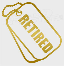 Retired Dog Tags Decal Sticker