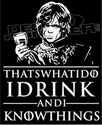 Game of Thrones Drinking Decal Sticker