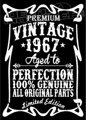 Premium Vintage 1987 Aged to Perfection Brewery Script Decal Sticker