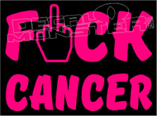Fuck Cancer Silhouette Decal Sticker