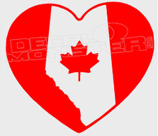 Alberta Love Canada Decal Sticker