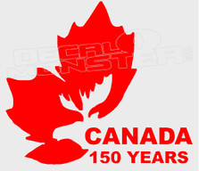 Canada 150 Years Decal Sticker