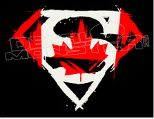 Superman Canada Decal Sticker