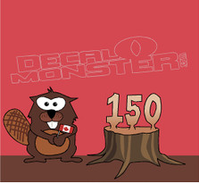 Canada Beaver 150 Years Decal Sticker