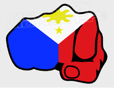 Philippines Flag Full Fist Decal Sticker