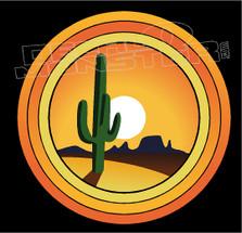 Arizona Cactus Desert Rings Decal Sticker