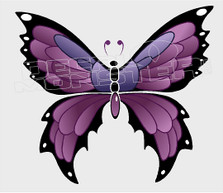 Majestic Butterfly Silhouette Decal Sticker