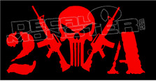 2nd Amendment Punisher Style Decal Sticker