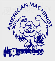 American Machinist Eagle Decal Sticker