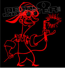 Crazy Welder Silhouette Decal Sticker