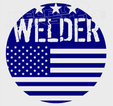 American Welder Patch Decal Sticker