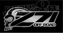 Z71 Off Road Skull 3 Decal Sticker