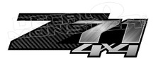 Z71 4x4 Carbon Fibre Metallic Brushed Decal Sticker