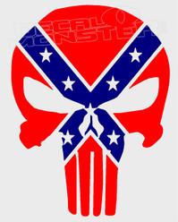 Confederate Punisher Decal Sticker