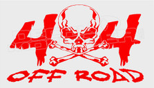 4x4 Off Road Skull and Cross Bones Edition 1 Decal Sticker