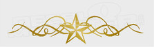 Western Star Curls Decal Sticker
