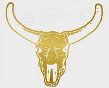 Longhorn Skull Decal Sticker
