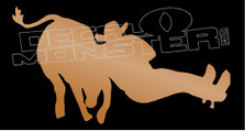 Steer Wrestling Rodeo Takedown Decal Sticker
