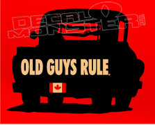 Old Farm Truck Old Guys Rule Decal Sticker