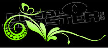 Fancy Floral Wall Curls Style 1 Decal Sticker