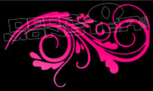 Fancy Floral Wall Curls Style 2 Decal Sticker