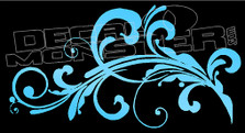 Fancy Floral Wall Curls Style 3 Decal Sticker