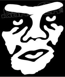 OBEY Tilted Face Silhouette Decal Sticker