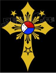 Philippines Stars 13 Decal Sticker