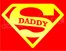 Super Daddy Decal Sticker