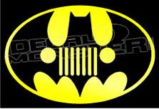 Jeep Batman Decal Sticker