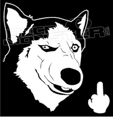 Fuck you Dog Decal Sticker