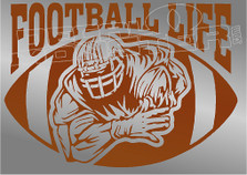 Football Life Silhouette 1 Sports Decal Sticker
