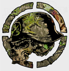 Metal Mulisha Green Forest Camo Decal Sticker
