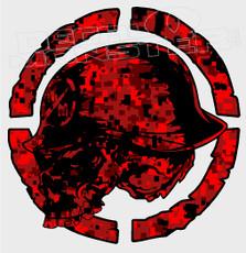 Metal Mulisha Red Digital Camo Decal Sticker