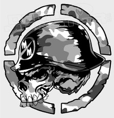 Metal Mulisha White Arctic Camo Decal Sticker