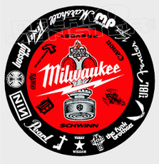 Milwaukee Tools + Sponsors Decal Sticker