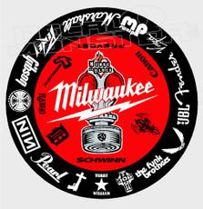 Milwaukee Tools + Sponsors Decal Sticker