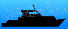 Yacht Silhouette Boat Decal Sticker