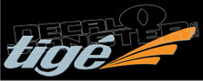 Tige Logo Boat Decal Sticker