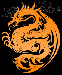 Mystical Dragon Silhouette 12 Decal Sticker