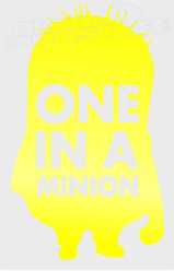 One in a Minion Silhouette 2 Decal Sticker