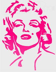 Marilyn Monroe Silhouette 2 Decal Sticker