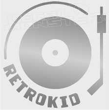 Retrokid Turntable Silhouette Decal Sticker