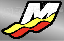 Mercury Marine Racing Boat Decal Sticker